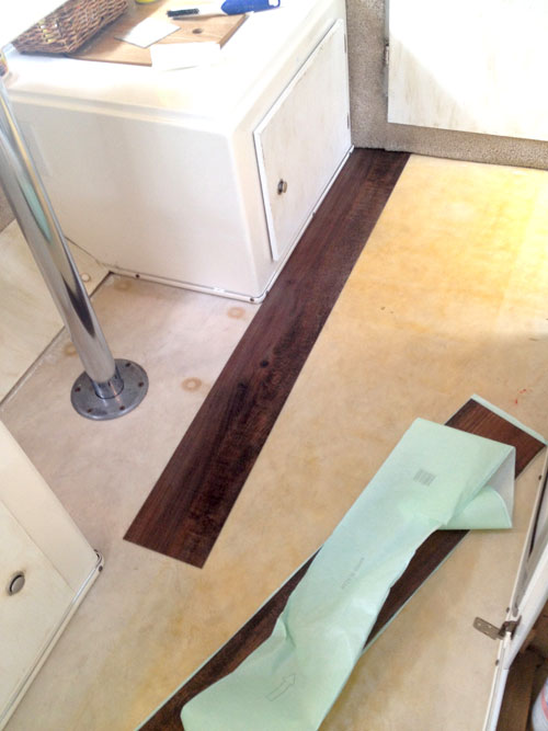 Installing Wood Vinyl Flooring in my Casita Travel Trailer ...