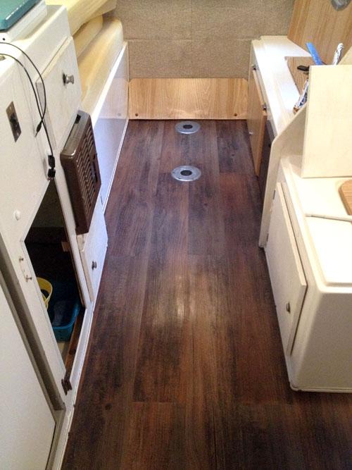 Installing Wood Vinyl Flooring In My Casita Travel Trailer