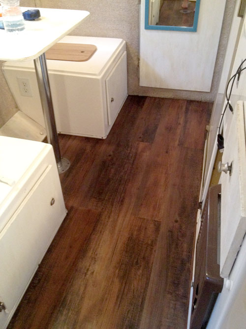 Installing Wood Vinyl Flooring In My Casita Travel Trailer